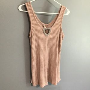Juicy Couture Embellished Keyhole Tank sz L NWT